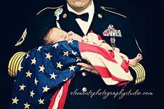 #newborn #american flag