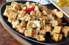 Max's-Style Sizzling Tofu Recipe A lot of people go to the famous Filipino restaurant chain Max's for their delicious fried chicken, but a close second to Tofu Recipes, Healthy Chicken Recipes, Vegetarian Recipes, Cooking Recipes, Asian Recipes, Recipies, Entree Recipes, Keto Recipes, Dinner Recipes