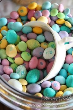 Pastel M & M's For Easter. Now these make me HAPPY! :D  #Candy # M&M's  #Pastel