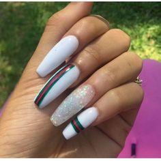 Gucci acrylic nails