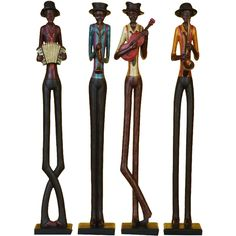 Polystone Jazz Band Set Of 4 A Real Like Table Statue