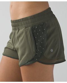 lulu lemon army green shorts