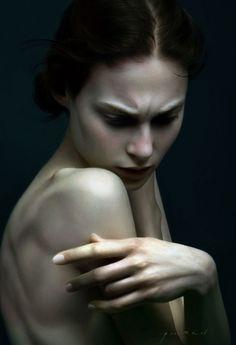 her scowl, hands, shoulder bones. So perfect.