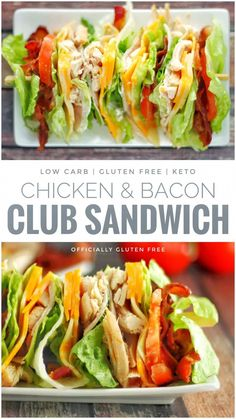 low carb yum This Keto & Low Carb Chicken Club Sandwich is the easiest way to eat a Clubhouse Sandwich without eating all the Carbs. The Sandwich is essentially bread free. Low Carb Keto, Low Carb Recipes, Diet Recipes, Chicken Recipes, Cooking Recipes, Healthy Recipes, Yummy Healthy Food, Health Food Recipes, Low Carb Food