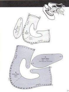 tuto chaussures de poupées