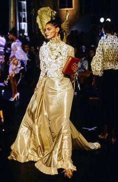 John Galliano Spring 1996 Ready-to-Wear Fashion Show - Anneliese Seubert