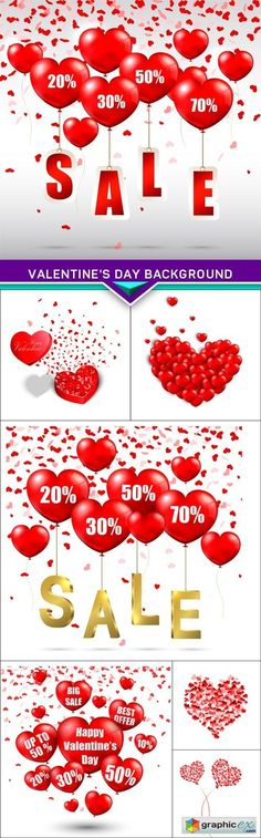 Valentine's Day background sale form of heart 7x JPEG  stock images