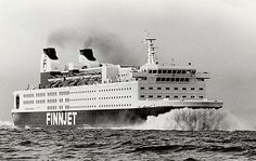 The fastest ferry in Gas turbine ship 55 MW, 31 knots. Made by Wärtsilä Helsinki. Photo by Finnlines. Gas Turbine, Water Crafts, Days Out, Helsinki, Finland, Stuff To Do, Sailing, Cruise, Yachts