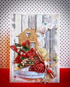 Christmas eco card with snow + tutorial