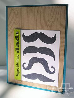 Many Mustaches by stampinangie - Cards and Paper Crafts at Splitcoaststampers