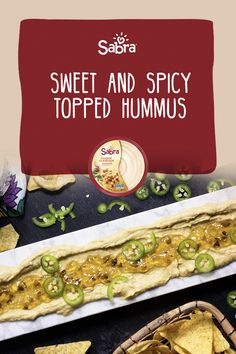 Sweet and spicy to combine in this delicious (and easy) transformation of our Classic Hummus Jalapeno Jelly, Party Platters, Serving Plates, Sweet And Spicy, Hummus, Classic, Ethnic Recipes, Easy, Food