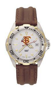 Florida State Seminoles Mens All-Star Watch Leather Band by Logo Art. $94.95. Stylish brushed chrome finish case with a rotating two-tone bezel and matching two-tone stainless steel bracelet. The All-Star watch features a precision Miyota quartz movement, distinguished dial face with the Florida State Seminoles logo on the top half and Florida State Seminoles name on the lower half of the dial, date window, raised luminous hour marks, with minute and second hands, and the cr...
