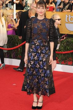 This outfit is hideous! What was she thinking? Maybe she wore it for a bet. Amanda Peet Photo 53