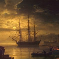 Claude-joseph Vernet Ship Paintings, Seascape Paintings, Moby Dick, Bateau Pirate, Old Sailing Ships, Ghost Ship, Wooden Ship, Nautical Art, Navy Ships