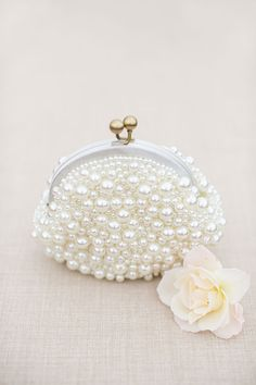 Pearl-Covered Purse | Brides.com
