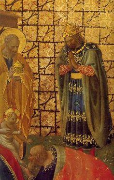 BEATO ANGELICO - Annunciazione e Adorazione dei Magi, dettaglio -  c.1424 - tempera su tavola - Museo di San Marco, Firenze