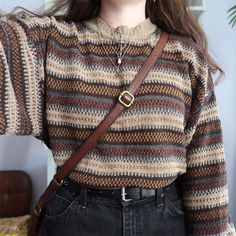 Komplette Outfits, Retro Outfits, Sweater Outfits, Fall Outfits, Vintage Outfits, Vintage Fashion, Rustic Fashion, Vintage Style, Rustic Outfits