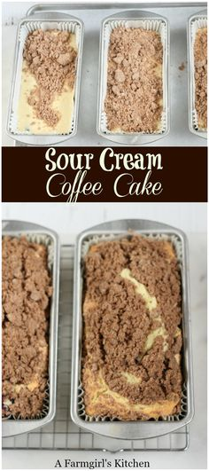 Sour Cream Coffee Cake is wonderfully moist, has a delicious streusel topping, and super easy to make! #coffeecake #bakefromscratch #easyrecipes #cake #recipes #streusel