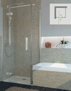 "Contemporary Master Bathroom with Crema Marfil Honed 6"" x"
