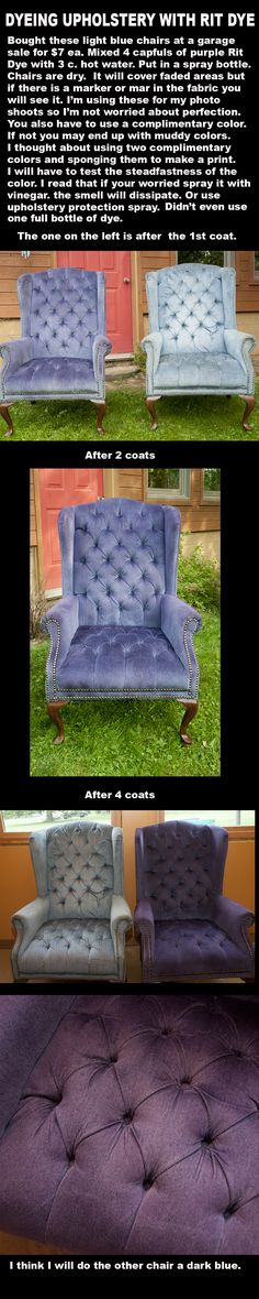 PAINTING UPHOLSTERY WITH RIT DYE