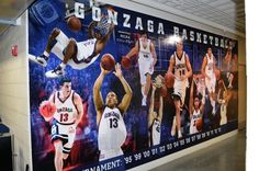 Gonzaga Men's Basketball - Wall Mural - Print & Install By Cassel Promotions ...