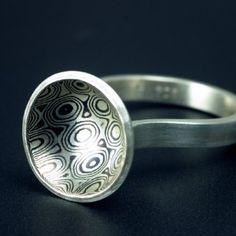 mokume domed ring
