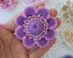 Las 808 Mejores Imágenes De Flores Crochet Crocheted Flowers En