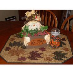 Fall Table Quilt By Kathie's Kreations , Table Runners | Quilterswarehouse