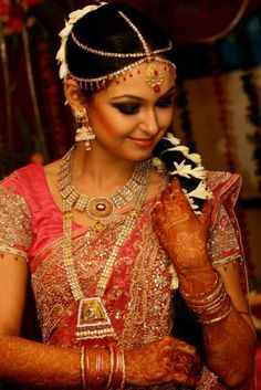 South indian bride, kanjeevaram saree