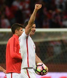 Poland 3-2 Denmark: A hat-trick from Robert Lewandowski secures thrilling victory for Adam Nawalka's men