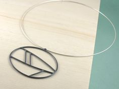 Geometric Sterling Silver Necklace by Kendra Renee