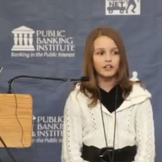 12 year old girl says we are being enslaved by private banks