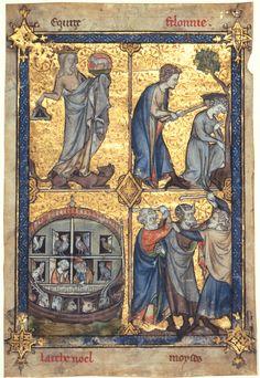 Equity and Felony Leaf from Laurent d'Orléans, La Somme le roi France, Paris, c.1290-1295