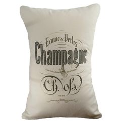 Vintage Champagne - Hemp and Organic Cotton Cushion Cover -