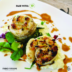 Try my fantastic Sole Crab with Parsnip Puree, Kale and Buerre Blanc! This meal pairs fantastically with No. 19 Chardonnay! #DrinkWithFabio