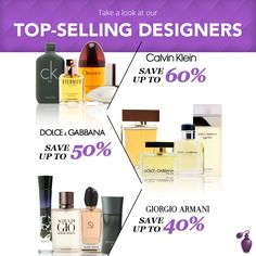 WOW! Discounts up to 60% OFF - Dolce & Gabbana, Giorgio Armani, Gucci, Burberry, Juicy Couture, Ralph Lauren, Christian Dior and more at FragranceNet.com!
