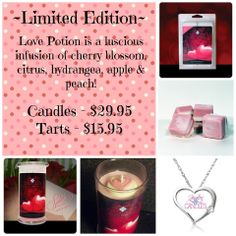 We now have a limited edition of tarts for Valentines Day! You also get jewelry in the tarts! Hurry and order now! www.jewelryincandles/store/kathys