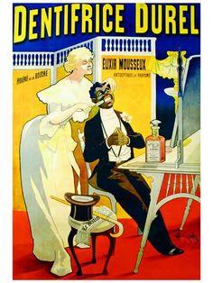 Dentifrice Durel - Vintage Retro Advertisement Ad Art Poster Print Postcard ☮~ღ~*~*✿⊱  レ o √ 乇 !! ~