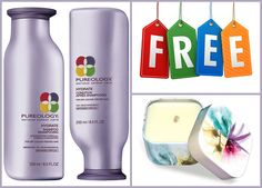 Pureology Hydrate Shampoo 8.5 oz and Conditioner 8.5oz set duo   FREE MATRIX BIOLAGE CANDLE (For dry color treated hair, zerosulfate, sulfate free, vegan, Cruelty Free) >>> You can get additional details at the image link.