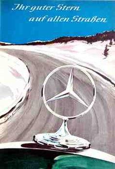 """""""Ihr guter Stern auf allen Straßen"""", Mercedes-Benz Werbung von 1954"""