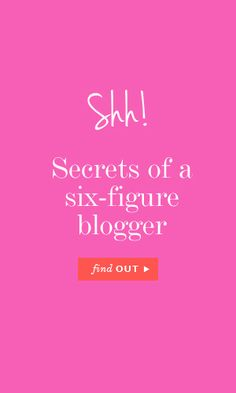 Secrets of a six-figure blogger #blogging