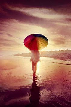 ILINA SIMEONOVA WOMAN WITH UMBRELLA ON BEACH AT SUNSET Women Umbrellas Parasols, Sunset, Woman, Beach, Outdoor Decor, Sunsets, Patio Umbrellas, The Beach, Beaches