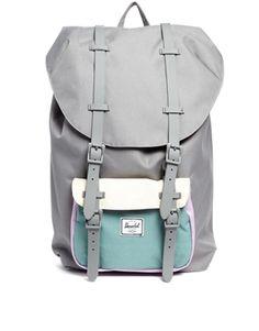 Herschel Little America Backpack in Grey Colour Block