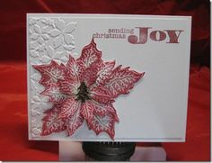 I made with Tim Holtz Tattered Poinsettia Die