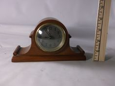 Small Vintage New Haven 8 Day Mantel Clock Deco Style Working Vintage Sails man Sample Wood Cased Clock .epsteam by retroricks on Etsy