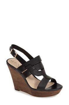 Dans le brun, elles sont superbe!!  91.49$  Sole Society 'Jenny' Slingback Wedge Sandal (Women) available at #Nordstrom