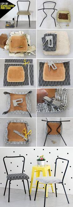 Inspiração para decorar cadeiras: