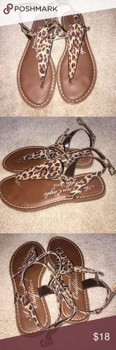 American Eagle Cheetah Sandals American Eagle Cheetah Print Sandals - Size 6 American Eagle Outfitters Shoes Sandals