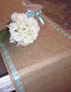 Burlap+Premium+Ribbon+Table+Runner++12+wide+by+CustomHollyDavidson,+$32.50