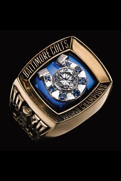 Super Bowl rings: Check out the championship bling from every winner- WOW-So Miami is the only team that has won the Super Bowl along with a perfect season? COLTS- WE HAVE A RECORD TO BEAT! Nfl Championship Rings, Nfl Championships, Baltimore Colts, Indianapolis Colts, Colts Super Bowl, Nfl Colts, Nfl Football, Super Bowl Rings, Ring Of Honor